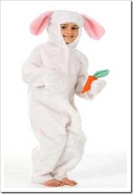 disfraz de conejo blanco