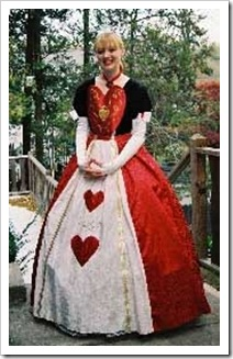 disfraz de reina de corazones de alicia en el pais de las maravillas