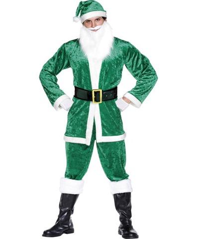 disfraz de Santa claus verde