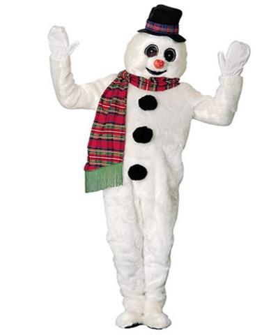 disfraz para navidad de muneco de nieve